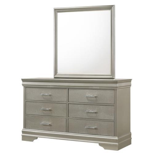 Crown Mark - Amalia Dresser and Mirror Set
