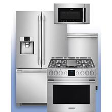 """FRIGIDAIRE PROFESSIONAL - Buy More, Save More on Frigidaire Professional Kitchen Appliances during their """"Kitchen Upgrade"""" promotion. See 4-pc example."""
