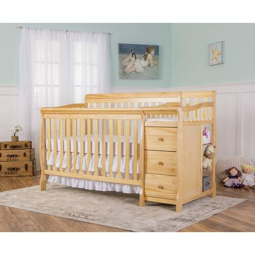 Brody 5 in 1 Convertible Crib with Changer in Natural
