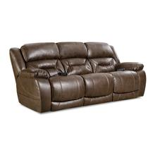 Enterprise Power Reclining Sofa w/Adjustable Headrest & Lumbar in Walnut