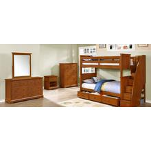 Belfort Twin over Twin Bunk Bed with Waterford Collection - Rustic Pecan