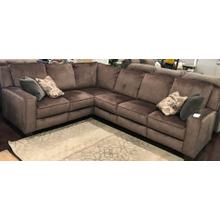 Brown Power Sectional