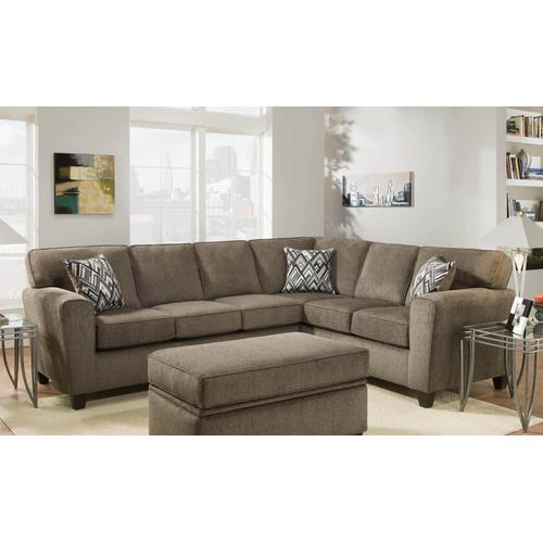 American Furniture Manufacturing - Cornell Pewter Sectional Sofa