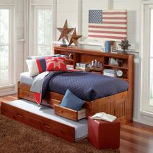 See Details - Merlot Twin Bookcase Daybed