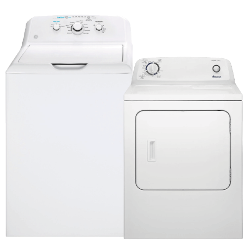 4.2 cu. ft. Top Load Washer with Stainless Steel Basket & 6.5 cu. ft. Electric Dryer with Wrinkle Prevent Option