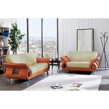 Sofa Bei/Orange