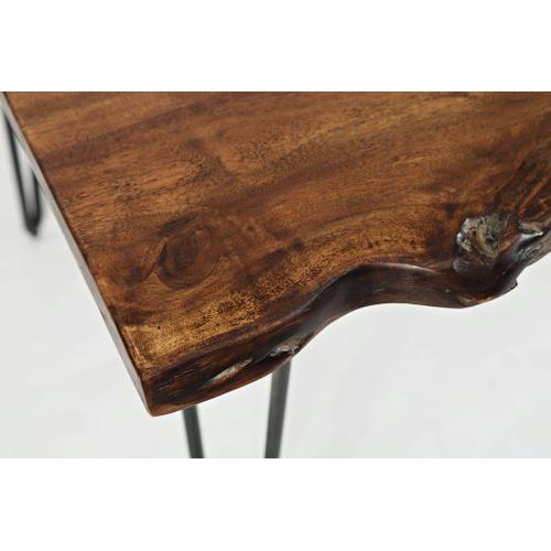 Natures Edge Table w/ 4 Leather Chairs & Bench