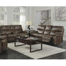 """Emerald Home U7130-18/21 Jessie James Power Sofa/Console Loveseat w/USB Power Outlet . 85""""L/74.8""""L x 37.8W x 36.6H . Chocolate Brown Faux Leather"""