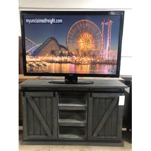 """L.M.T. Rustic and Western Imports - 60"""" Barn Door TV Console"""