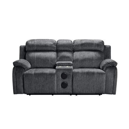 Tango Shadow Console Reclining Loveseat with Speaker