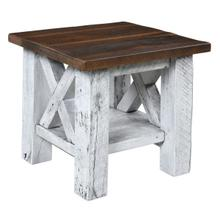 See Details - Margate End Table in Reclaimed Barnwood