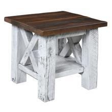 Margate End Table in Reclaimed Barnwood