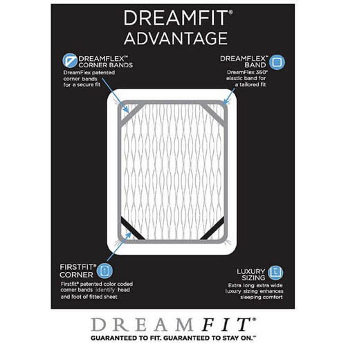 Dreamfit - Degree 4 Dreamfit Made in The USA 100% Egyptian Cotton Sheets Set