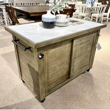 See Details - Kitchen Island w/ Marble Top