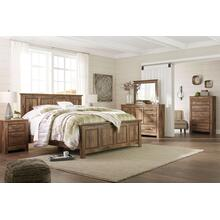 Blaneville- Brown- Dresser, Mirror, Chest, Nightstand & King Panel Bed