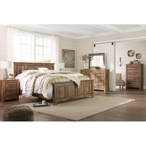 Blaneville- Brown- Dresser, Mirror, Chest, Nightstand & King Panel Bed