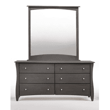 Clove 6 Drawer Dresser Stonewash Finish
