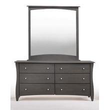 See Details - Clove 6 Drawer Dresser Stonewash Finish