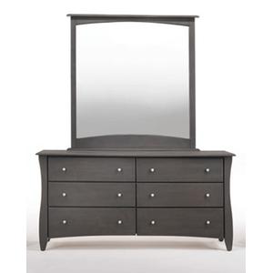 Clove 6 Drawer Dresser Stonewash Finish