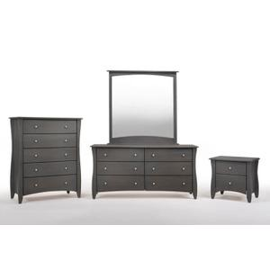 Clove 2 Drawer Night Stand Stonewash Finish