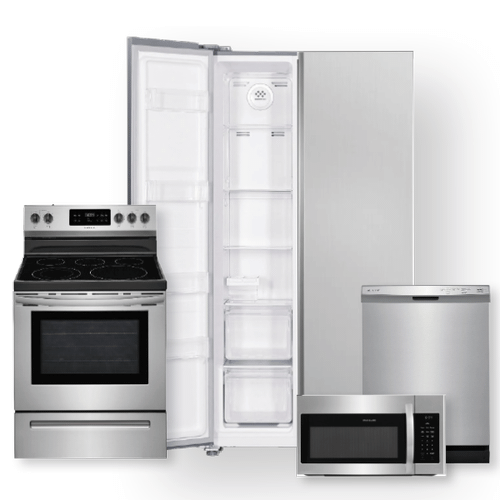 18.8 Cu. Ft. 36'' Counter-Depth Side-by-Side Refrigerator & 30'' Electric Range Package- Minor Case Imperfections