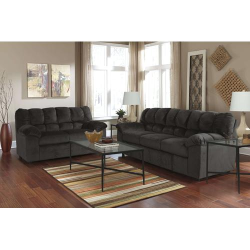 Chocolate Comfy Sofa/Loveseat/ T003 Coffee/ 2 End Tables Package