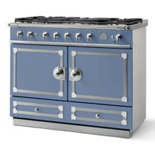 Provence Blue Cornufe 110 with Polished Chrome Accents