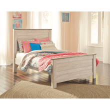 Willowton- Whitewash- Full Panel Bed