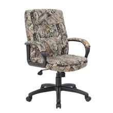 B7506 - Boss Executive Mid Back Mossy Oak Chair