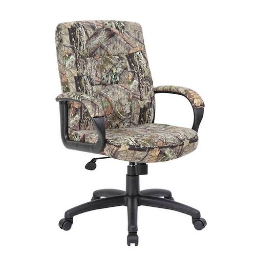 Presidential Office - B7506 - Boss Executive Mid Back Mossy Oak Chair