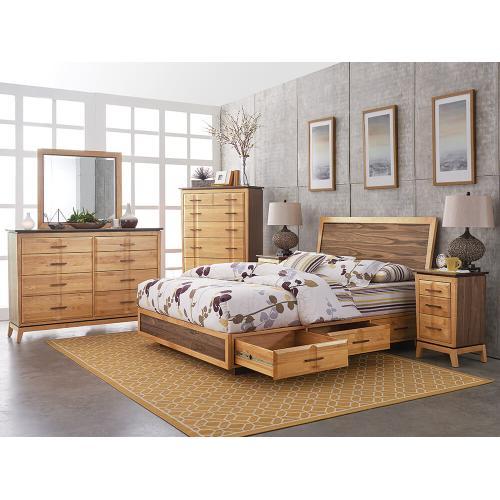Whittier Wood - DUET Addison CalKing Adjustable Storage Bed Duet Finish