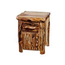 1 Drawer / 1 Door Nightstand Log Front Wild Panel Gnarly Log