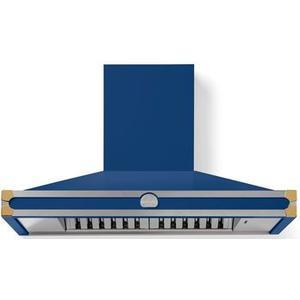 Lacornue Cornufe - Royal Blue Cornufe 110 Hood with Polished Brass Accents