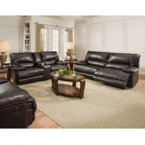 American Furniture ManufacturingRoman Bonded Chocolate Reclining Sofa