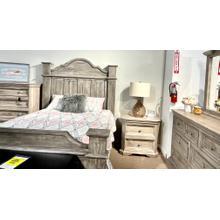 See Details - Floor Model Queen Bed, Dresser, Mirror, Chest and Nightstand