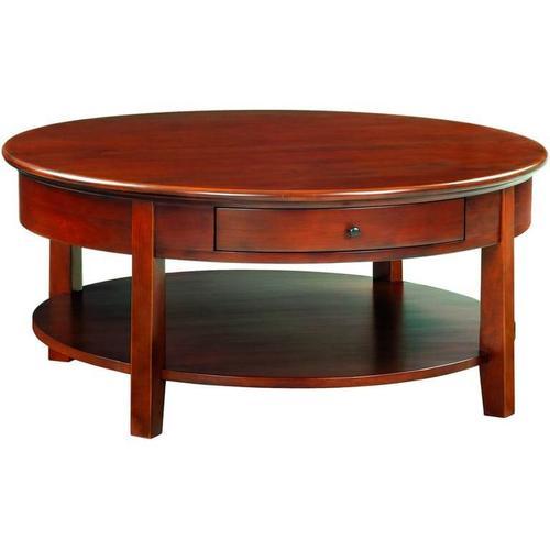 """Whittier Wood - GAC McKenzie Round Cocktail Table (40""""D)"""