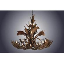 REAL 16 Light Medium Mule / Fallow Cascading Antler Chandelier