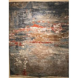 Abstract 8' x 10' Hand Knotted Rug
