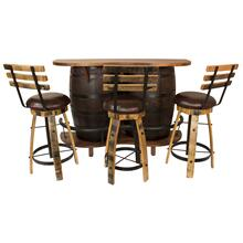 AR369 Red Oak Whiskey Barrel Bar