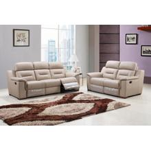 See Details - 9408 - Beige Leather Gel - 2-Piece Sofa and Loveseat