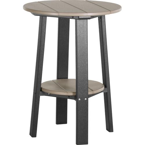 """Deluxe End Table 28"""" Weatherwood and Black"""