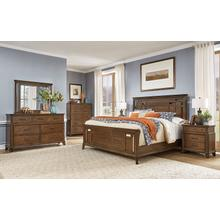 See Details - 6 Piece Set (King Panel Bed, Dresser, Mirror and Nightstand)