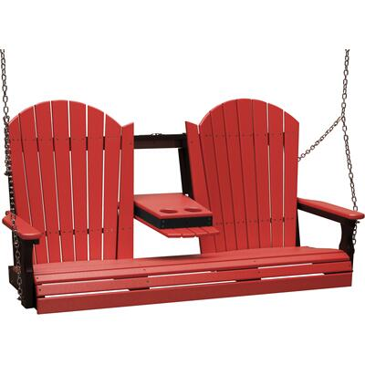 Adirondack Swing 5' Red and Black