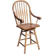 "24"" Windsor Arm Barstool"