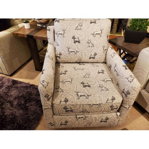 Fusion Furniture - Biscuit Iron Swivel Glider Chair