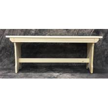 See Details - Maine Made Trestle Bench 42 42W X 17H X 11D Pine Unfinished