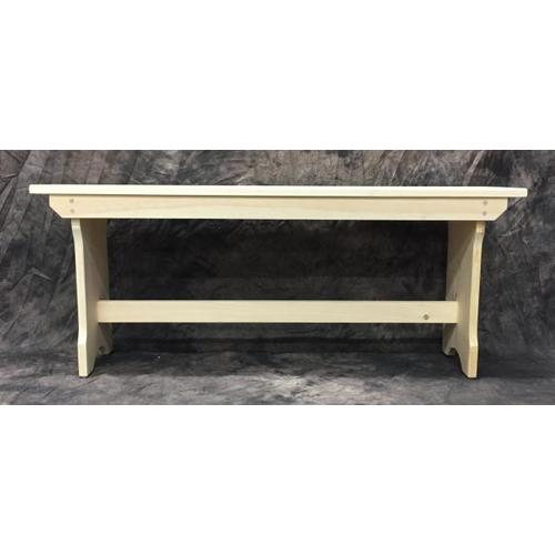 Gallery - Maine Made Trestle Bench 42 42W X 17H X 11D Pine Unfinished
