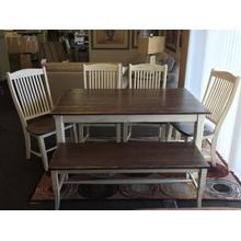 """See Details - Champlain collection 36""""x60"""" table with 4 chairs and bench"""