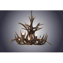 REAL 8 Light Inverted Mule Deer Antler Chandelier