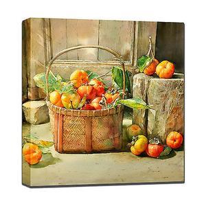 Outdoor Canvas Art - Tomato Basket 24 x 24